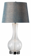 Kenroy Home 32255CLR Decanter Clear Glass Tapered Drum Shade Living Room Table Lamp