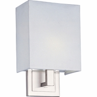 ET2 E2109301SN Edinburgh II Small Contemporary Square Wall Sconce Light - T4 Bulb