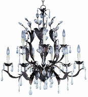 Maxim 8836OI Grove 9 Light 32 inches wide Rustic Crystal Chandelier