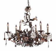 ELK 85002 Cristall Fiore Rustic 6-Light Chandelier