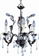 Maxim 8833OI Grove 3 Light 18 inches wide Rustic Crystal Chandelier