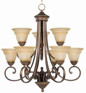 Maxim 11177EVOI Brighton Traditional 9 Light 2 Tier Chandelier in Oil Rubbed Bronze