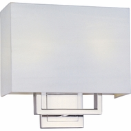 ET2 E2109401SN Edinburgh II 2-light Modern Square Shade Wall Lighting Sconce - T4 Bulb