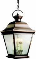 Kichler 9804OZ Mount Vernon Olde Bronze Outdoor Hanging Pendant Light - Large (13 )