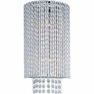 ET2 E2313110PC Spiral Tall 2-light Crystal Wall Sconce