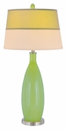 Lite Source LS21500LGRN Gillespie Transitional Light Green 37 Inch Tall Bed Lamp