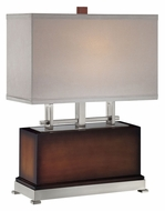 Lite Source LS21638 Frazer 22 Inch Tall Contemporary 16 Inch Wide Fluorescent Table Lamp