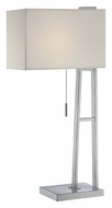 Lite Source LS21711CWHT Kacia Fluorescent 29 Inch Tall Contemporary Table Lamp