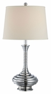 Lite Source LS21808 Usher Ribbed Body Chrome Finish 26 Inch Tall Table Lamp Lighting