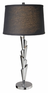 Lite Source LS21933CBLK Aislinn Chrome Finish 35 Inch Tall Modern Black Shade Table Lamp