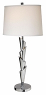 Lite Source LS21933CWHT Aislinn 35 Inch Tall White Shade Modern Table Lamp - Chrome