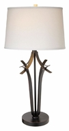 Lite Source LS21934WHT Bourne 32 Inch Tall Modern White Shade Bedroom Table Lamp