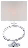 Lite Source LSF-22072 Renia Fluorescent Chrome Table Lantern Lamp with Crystal Accents