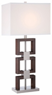 Lite Source LSF-22078 Nizanna Fluorescent Wooden Table Light