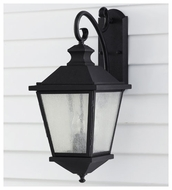 Feiss OL5702BK Woodside Hills Large Outdoor Hanging Wall Sconce Lantern