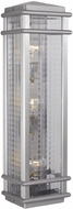 Feiss OL3404-BRAL Monterrey Coast 3-light 26 inch Outdoor Wall Lamp in Brushed Aluminum