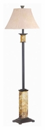 Kenroy Home 31204 Bennington Natural Slate Finish 62 Inch Tall Floor Lamp Lighting