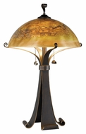 Kenroy Home 20085CHC Santa Fe 28 Inch Tall Contemporary Table Lamp - Chocolate Caramel