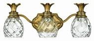Hinkley 5313BB Plantation Brass Tropical Three Light Bath Light