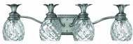 Hinkley 5314PL Plantation Nickel Tropical Four Light Bath Light