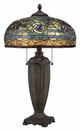 Quoizel TF1487T Tiffany Art Glass 26 Inch Tall Table Top Lamp