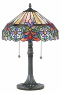 Quoizel TF6826VB Connie Traditional Bronze Classic Tiffany Table Lamp