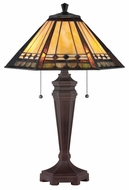 Quoizel TF1135T Arden Transitional 23.5 Inch Tall Tiffany Table Light