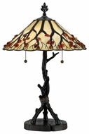 Quoizel AG711TVA Whispering Wood Tiffany Table Lamp