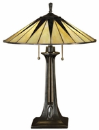 Quoizel TF6668VB Gotham Tiffany Table Lamp in Vintage Bronze