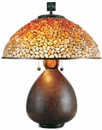 Quoizel TF6825CN Pomez Tiffany Table Lamp in Cinnamon
