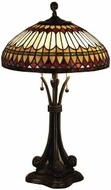 Quoizel TF6660BB West End Tiffany Table Lamp in Brushed Bullion
