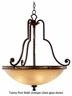 Kalco 6107 Durango Tawny Port Large Rustic Pendant Light