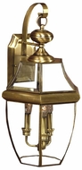 Quoizel NY8318A Newbury 22.5 inches tall outdoor wall light in antique brass