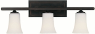 Feiss VS8703-ORB Boulevard 3-light 9 inch Vanity Lamp in Oil Rubbed Bronze