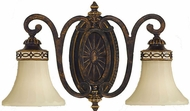 Feiss VS11202-WAL Edwardian 2 Light Traditional Vanity Light in Walnut