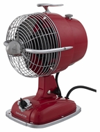 Fanimation Fans FP7958SR Retro 12 Inch Tall Spicy Red Table Fan