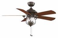 Fanimation Fans FP7954OB Crestford 52 Inch Sweep Oil Rubbed Bronze Finish Traditional Indoor Outdoor Fan Light Fixture