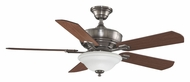 Fanimation Fans FP8095PW Camhaven 3 Speed Pewter Finish Home Ceiling Fan Light Fixture - 52 Inch Sweep
