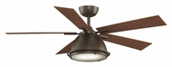 Fanimation Fans FP7951OB Breckenfield Oil Rubbed Bronze Finish 52 Inch Sweep Home Ceiling Fan Lighting