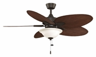 Fanimation Fans FP7500OBP4LK Windpointe 3 Speed Damp-Rated Oil Rubbed Bronze 52 Inch Sweep Ceiling Fan With Light Kit