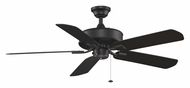 Fanimation Fans TF910BL Edgewood Indoor Outdoor 50 Inch Sweep Black Home Ceiling Fan - 3 Speeds