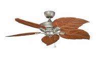 Kichler 320500ANS Canfield 52 Inch Wide All-Weather Dark Oak Carved Leaf Blade Ceiling Fan