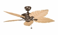 Kichler 320500CMO-370021 Canfield Coffee Mocha Finish 52 Inch Wide Home Ceiling Fan With White Washed Oak Blades