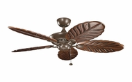 Kichler 320500CMO-B371101 Canfield 52 Inch Wide Solid Wood American Walnut Stain Ceiling Fan - Coffee Mocha