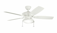 Kichler 320500SNW-B371013SNW Canfield 52 Inch Wide All-Weather Satin Natural White Ceiling Fan With Downlight Option