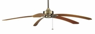 Fanimation Fans MA7500AB Windpointe Ceiling Fan in Antique Brass with Five Teak Blades