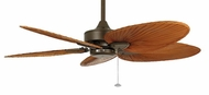Fanimation Fans MA7500OB Windpointe Ceiling Fan in Oil Rubbed Bronze with Five Brown Palm Leaf Blades