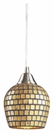ELK 528-1GLD Fusion Gold Mosaic Glass Mini Pendant Lighting - 7 Inches Tall