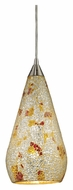 ELK 546-1SLVM-CRC Curvalo Silver Multicolored Crackle 13 Inch Tall Mini Pendant Lighting