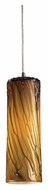 ELK 551-1MA Maple 13 inch Tall Maple Amber Glass Mini Lighting Pendant